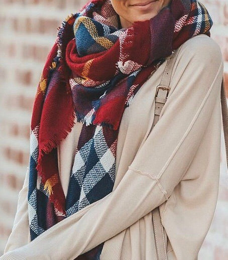 Gorgeous plaid blanket scarf