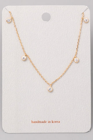Dainty Rhinestone Necklace