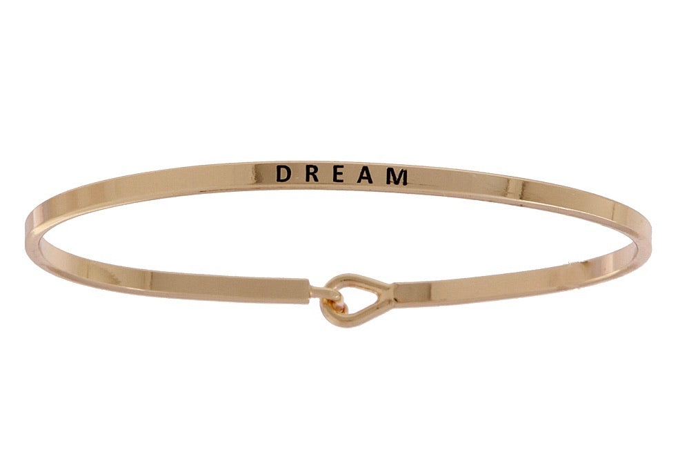 DREAM inspiration bangle bracelet