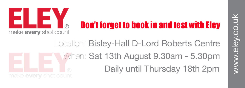 Don't forget to book in and test with Eley