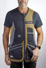 CASTELLANI RIO MESH VEST Gold-Navy-Grey Right Handed