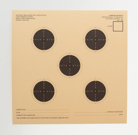 NSRA Air 11/99 (10 M Air Rifle Prop to 50 Metres)