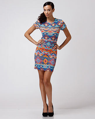 Aztec Cut-Out Dress