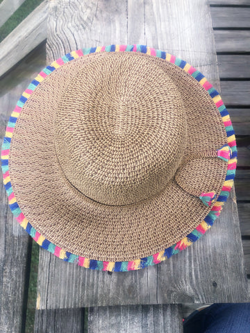 Fringed Beach Hat