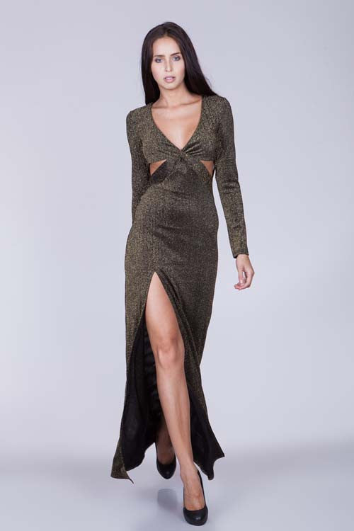 Ark & Co Glitz It Out Slit Dress