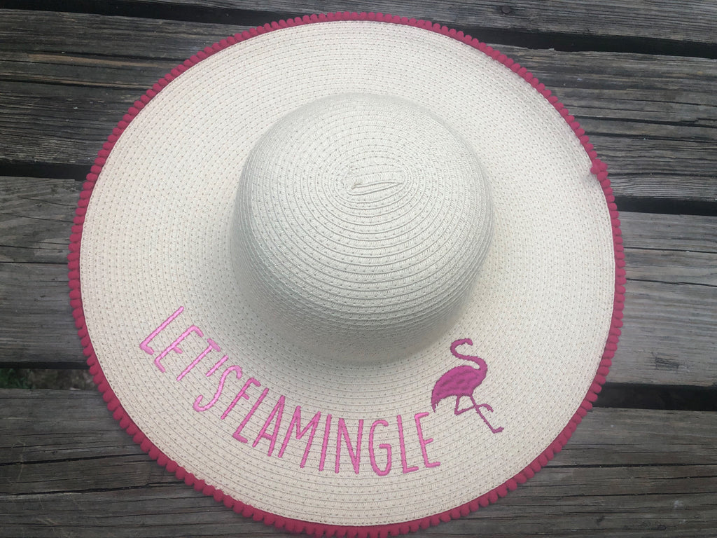 Flamingo  Beach Hat