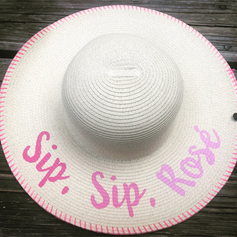 Sip Rose Beach Hat