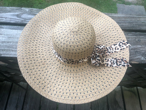 Leopard Beach Hat