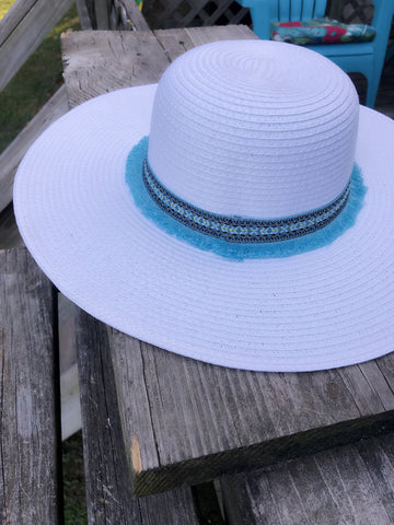 Embroidered Beach Hat