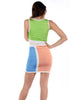 Wow Couture Color-Block Sunburst Bandage Dress