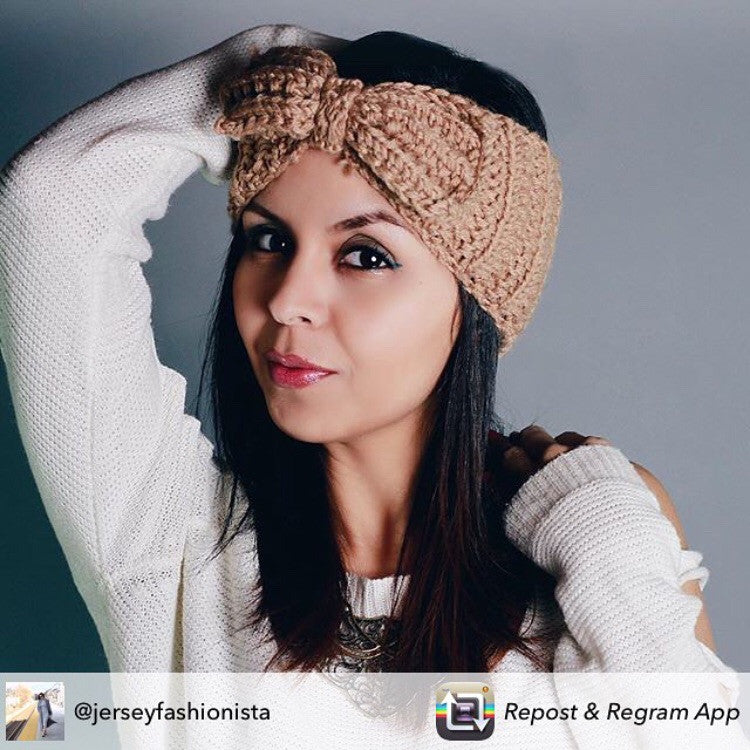 Bow Sweater Headband
