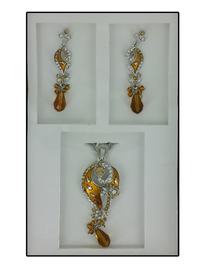 Tiah Duel Necklace & Earring Set  MD073