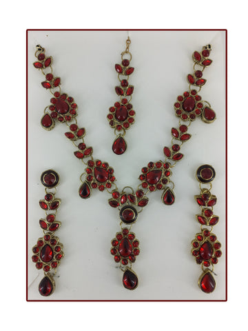Rain Water 3 Piece Necklace Set by Sunflower MD074