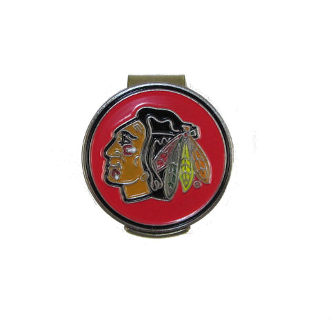 Chicago Blackhawks Golfers Hat Clip with Golf Ball Marker