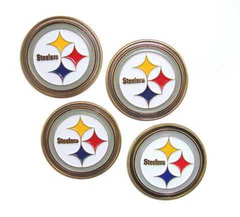 Pittsburgh Steelers Golf Ball Markers (Set of 4)