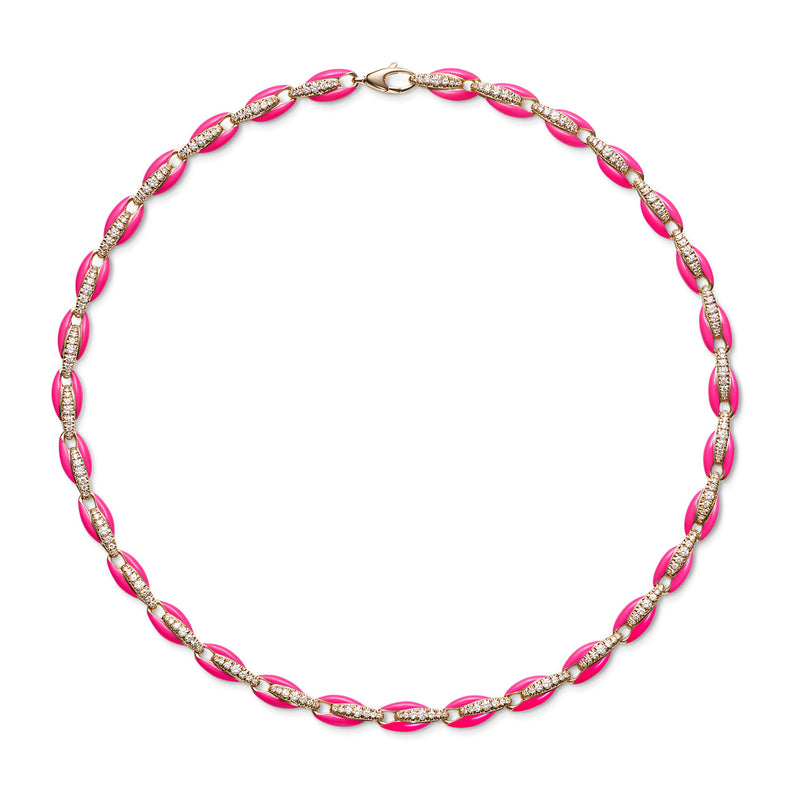 ADA NECKLACE (Enamel: Neon Pink)