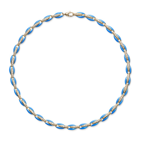 ADA NECKLACE (Enamel: Neon Blue)