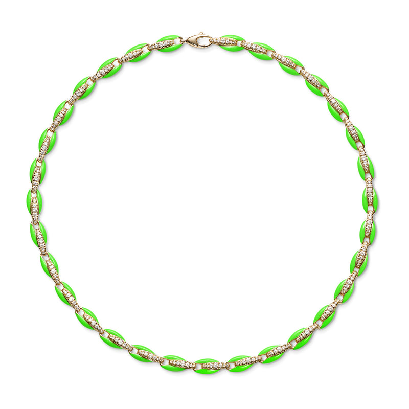 ADA NECKLACE (Enamel: Neon Green)