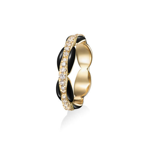 ADA PINKY RING (Enamel: Black)