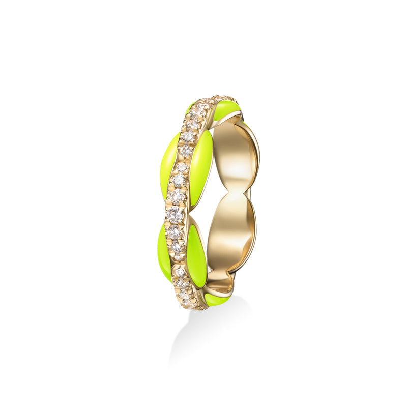 ADA PINKY RING (Enamel: Neon Yellow)