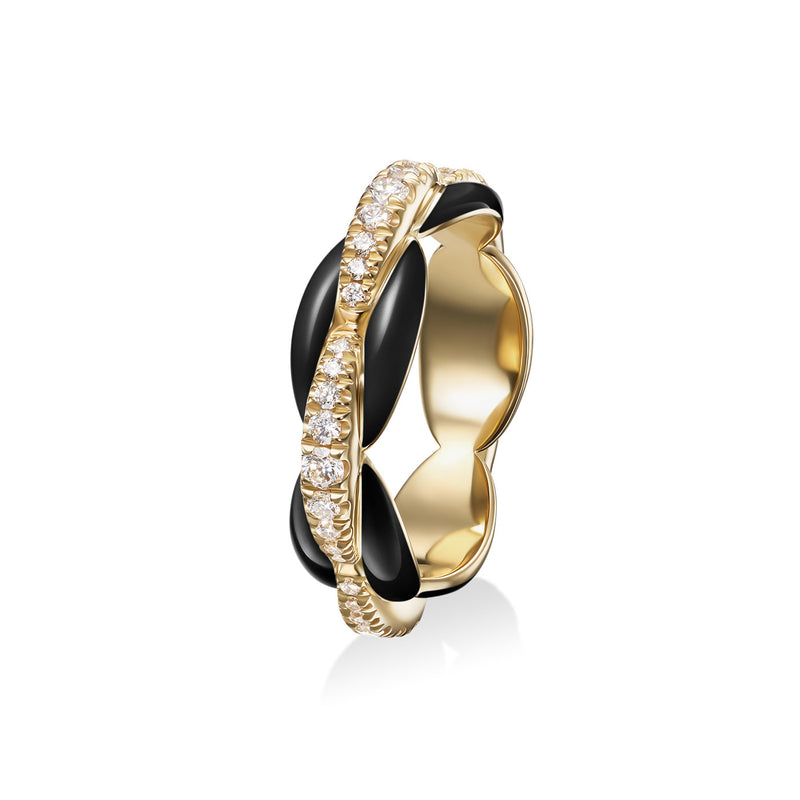 ADA RING (Enamel: Black)