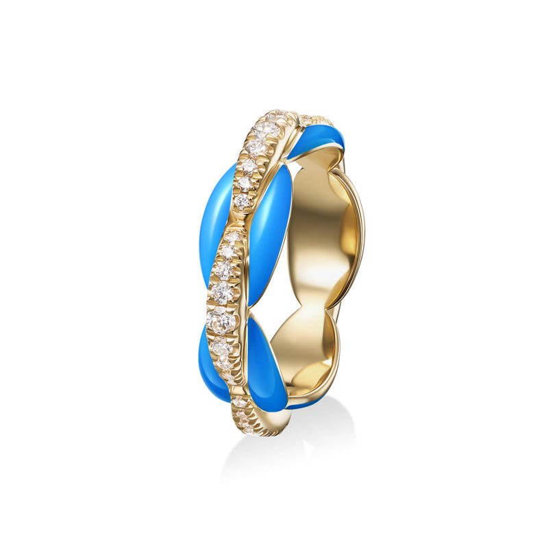 ADA RING (Enamel: Neon Blue)