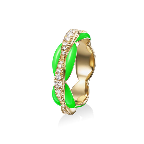 ADA RING (Enamel: Neon Green)