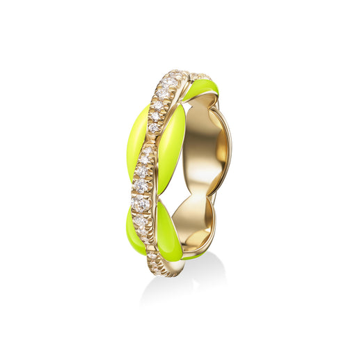 ADA RING (Enamel: Neon Yellow)