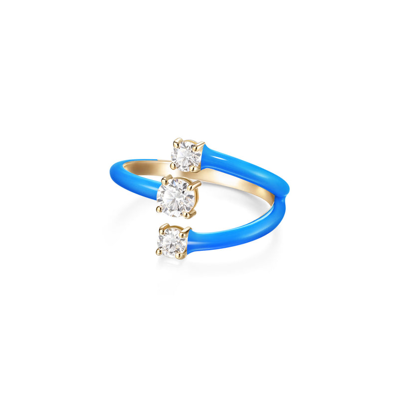 ARIA MOON RING (Enamel: Neon Blue)