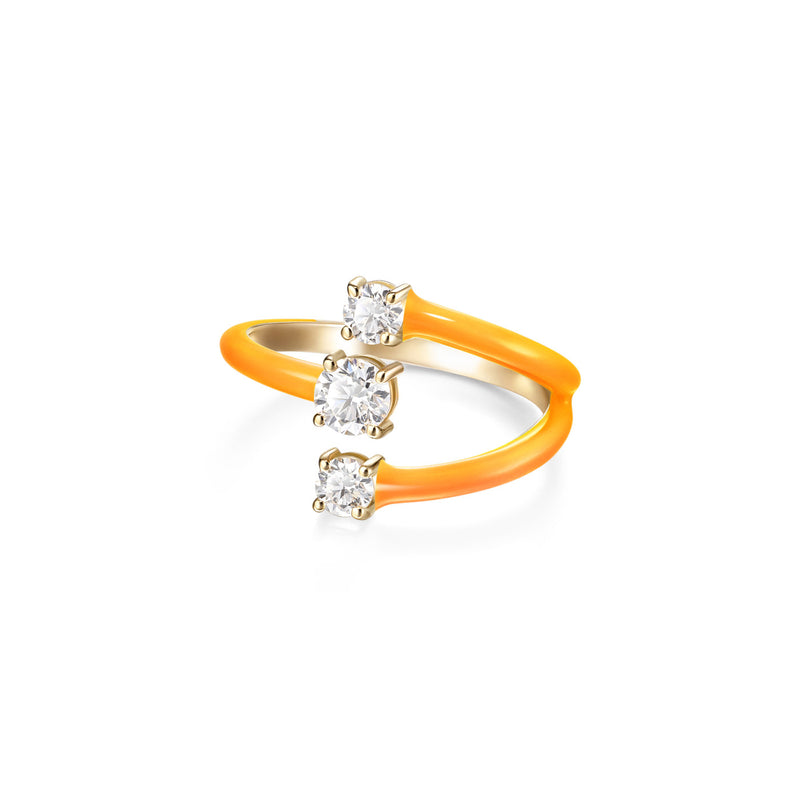 ARIA MOON RING (Enamel: Neon Orange)