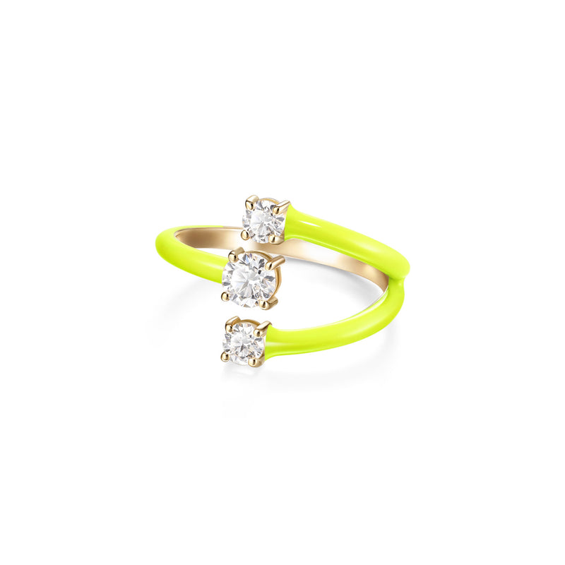 ARIA MOON RING (Enamel: Neon Yellow)