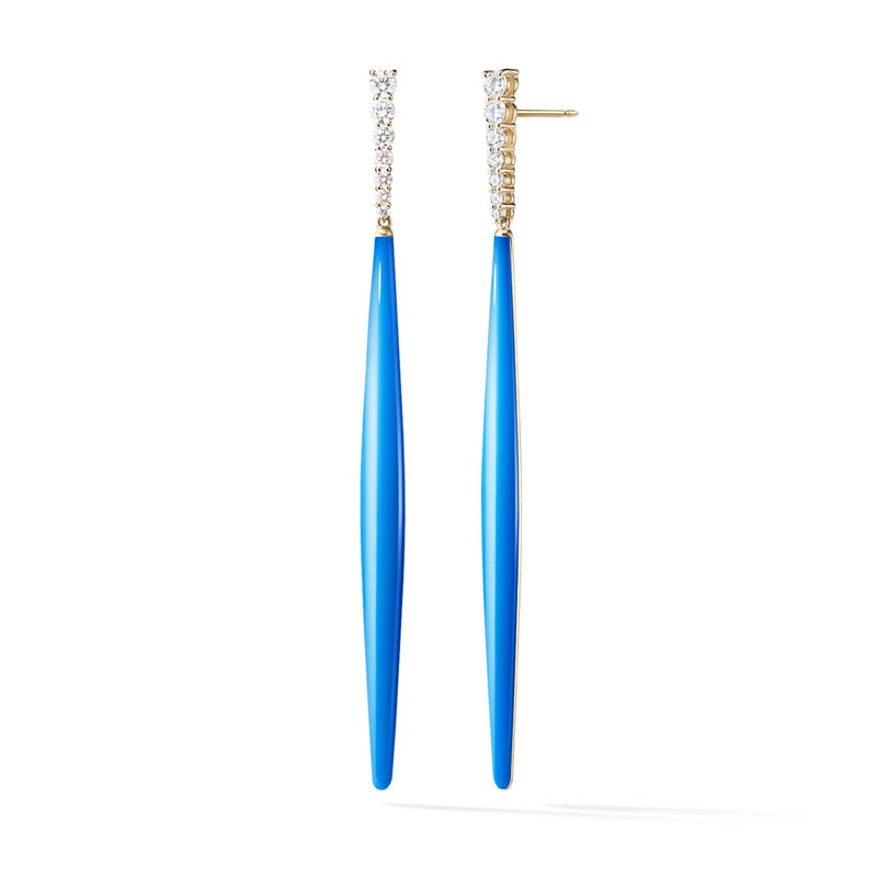 ARIA STILETTO EARRING (Enamel: Neon Blue)
