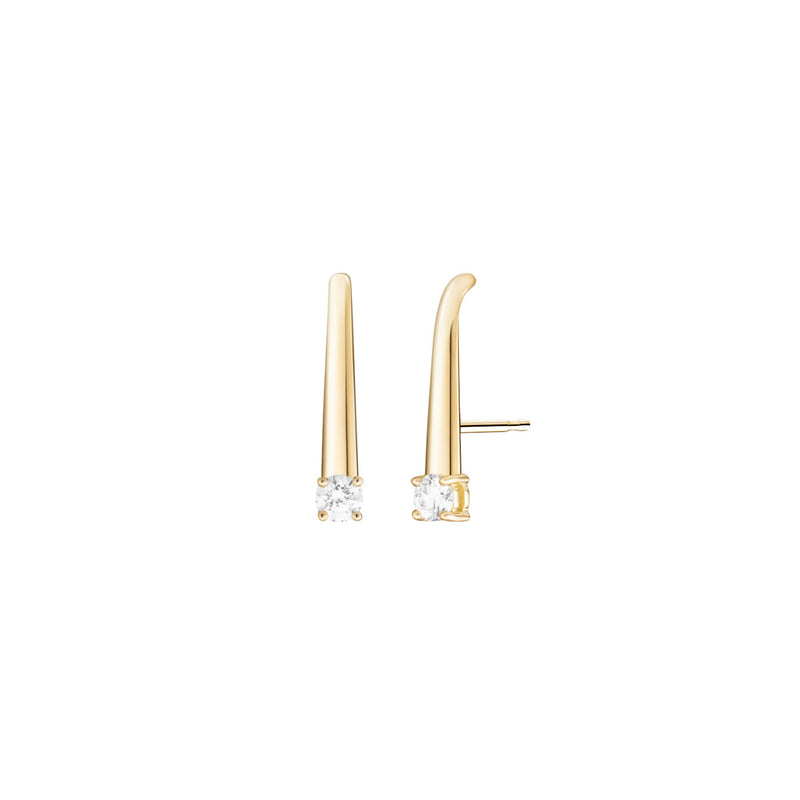 ARIA EARHOOK Small (Single Diamond)