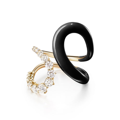 ARIA JANE RING (Enamel: Black)