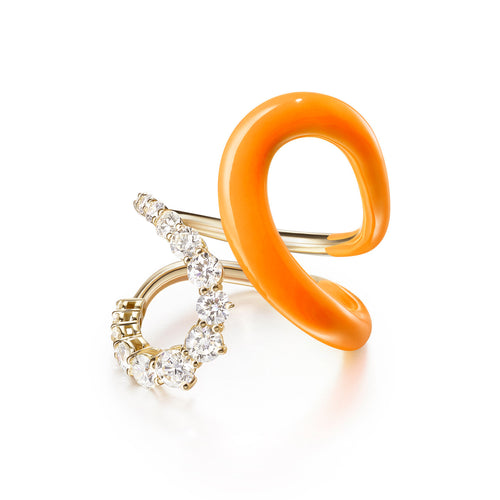 ARIA JANE RING (Enamel: Neon Orange)
