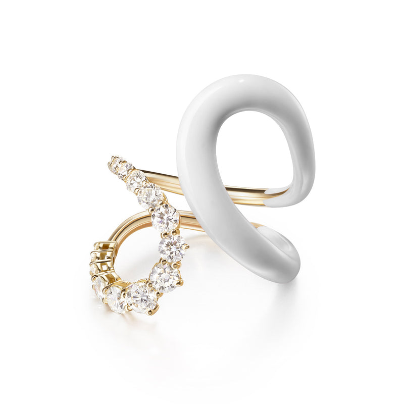 ARIA JANE RING (Enamel: White)
