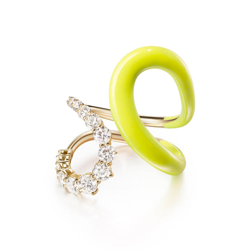 ARIA JANE RING (Enamel: Neon Yellow)