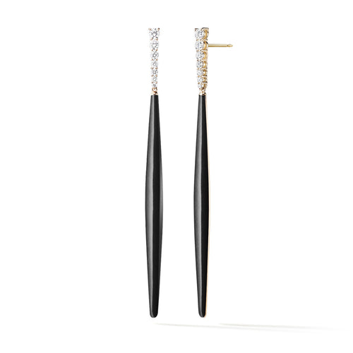 ARIA STILETTO EARRING (Enamel: Black)