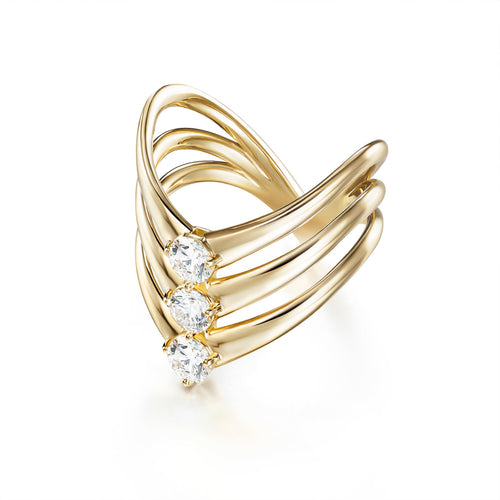 ARIA TRIPLE V RING (Gold)