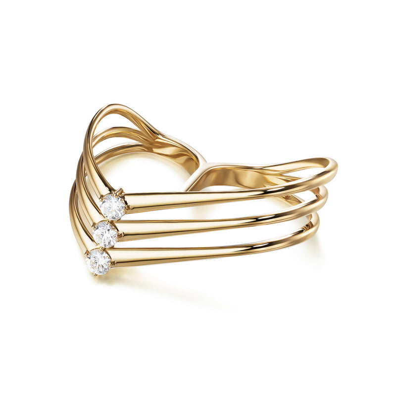 ARIA TRIPLE Y RING (Gold)