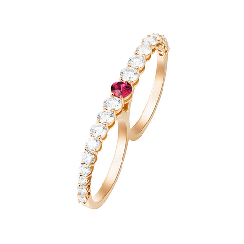 ARIA TWO-FINGER RING (Ruby)