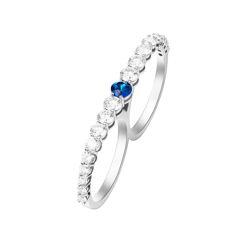 ARIA TWO-FINGER RING (Blue Sapphire)