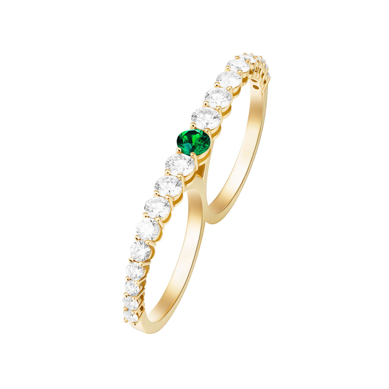 ARIA TWO-FINGER RING (Tsavorite Garnet)