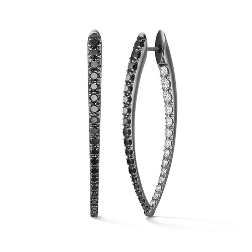 CRISTINA EARRING Large (Black and White Diamond)