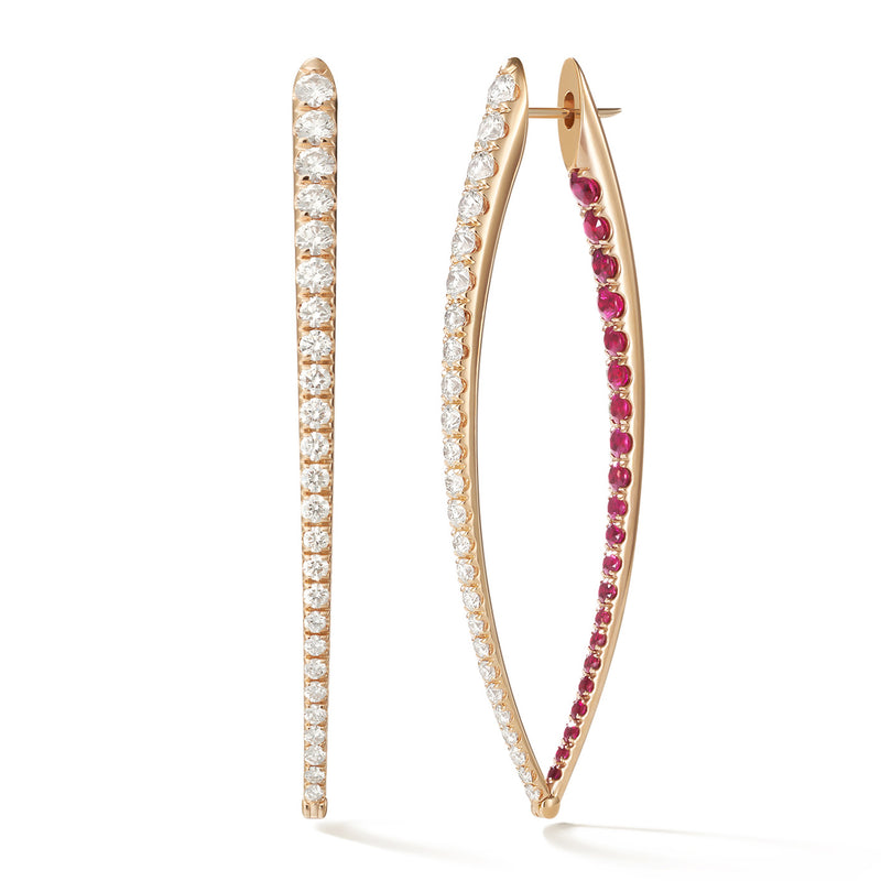 CRISTINA EARRING XL (Ruby)