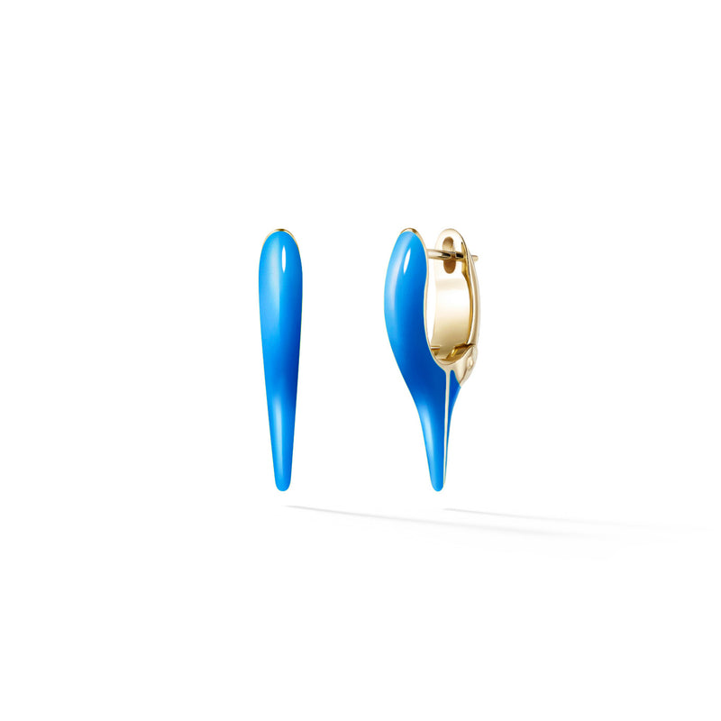 LOLA NEEDLE EARRING Mini (Enamel: Neon Blue)