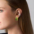 LOLA NEEDLE EARRING Mini (Enamel: Neon Green)