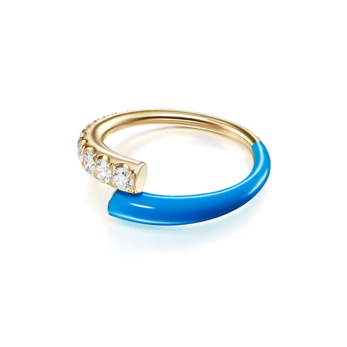 LOLA RING (Enamel: Neon Blue)