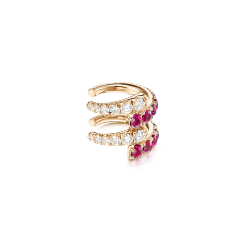 LOLA EARCUFF DOUBLE (Ruby)