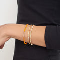 LOLA LINKED BRACELET (Enamel: Neon Orange)
